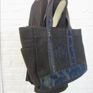 Tory Burch Navy Blue Tote Bag